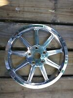USED CHROME REVTECH  REAR DRIVE PULLEY 70T 25MM HARLEY SOFTAIL FXST