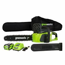 GreenWorks 20312 G-MAX 40V 16-Inch Cordless Chainsaw 4AH Battery and a Charge...