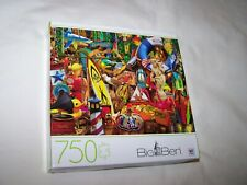 "Milton Bradley Big Ben 750 Piece Puzzle ""Beach Road Pickers"" New/Sealed Box"