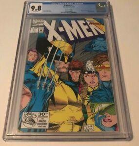 Marvel Comics X-MEN #11 CGC 9.8 2ND PRINT SILVER PRESSMAN VARIANT JIM LEE COVER
