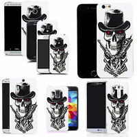 Motif case cover for All popular Mobile Phones -  skull guns
