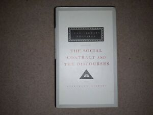 The Social Contract & the Discourses by Jean-Jacques Rousseau (Hardback, 1993)