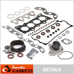 Fit 96-00 Honda Civic 1.6 Head Gasket Set Timing Belt Water Pump Kit D16Y7 D16Y8