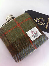 6 oz Harris tweed hip flask groomsmen wedding gift Scottish shooting hunting