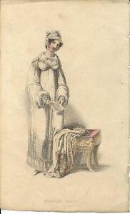 ACKERMANN REPOSITORY    Regency Fashion Plate     MORNING DRESS    APRIL 1816