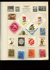 Hungary Album Page Of Stamps #V2744