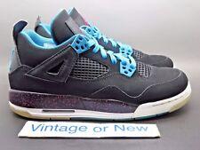 Girls' Nike Air Jordan IV 4 Black Vivid Pink Dynamic Pink Retro GS 2012 sz 7Y