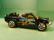 2004 Hot Wheels 1/64 First Editions Off Track Black and Blue Truck loose 4x4