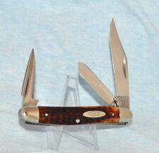 "RARE VINTAGE CASE XX REDBONE STOCKMAN KNIFE 6347 PU 1940-64 ""NEAR MINT!"