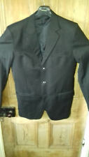 "6'7"" Very Long Sleeved Black Suit"