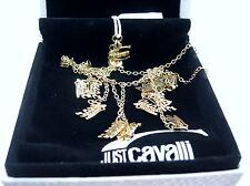 Just Cavalli Collier Halskette Gold Cavalli Logo Designer Schmuck JC22