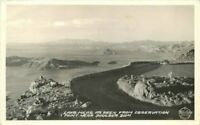 Boulder Dam Nevada Frasher Lake Mead Observation Point RPPC Photo Postcard 9888