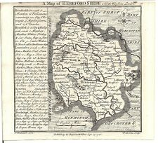 Antique map, Herefordshire .