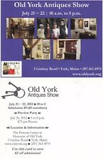 2012 OLD YORK ANTIQUES SHOW UNUSED ADVERTISING COLOUR  POSTCARD