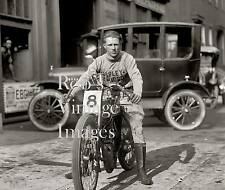 Motorcycle Board Track Racing Photo Fred Fretwell On Harley Davidson 1922