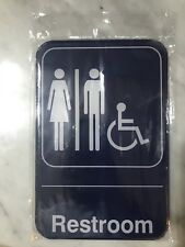"Restroom Sign - Bathroom Sign - Unisex Women & Men  6"" x 9"""