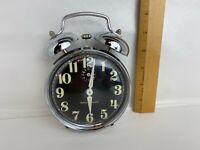 VINTAGE - Rare WESTCLOX -TWIN BELL ALARM With GLOWING NUMBERS - Made In Brazil