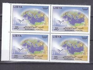 stamps LIBYA 2014 SC 1792 EUROMED POSTAL MNH BLOCK #173