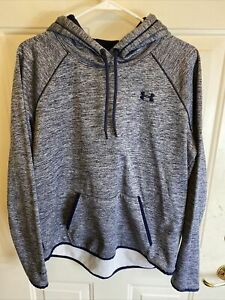 Women's Under Armour Cold Gear Pullover Hoodie SIze: LG Storm Navy