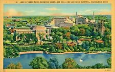 Postcard Wade Park Severance Hall and Lakeside Hospital Cleveland Ohio 1942. D2