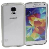 GREY SAMSUNG GALAXY S5 CASE HARD BACK CLEAR TPU SILICONE BUMPER COVER M74
