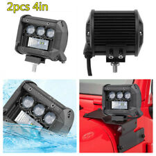 2Pcs 4in 160W Car SUV Off-road LED Work Light Spot Flood Driving Fog Lamp Bars