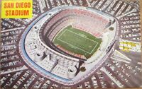 1960s Football Stadium Chrome Postcard: San Diego, California CA Cal