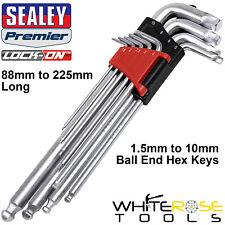 Sealey Ball End Hex Key Set Lock On 9pc 1.5mm-10mm Metric Allen Allan Keys
