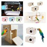 Wooden Cage House Breeding Box Nest For Bird Parrot Parakeet Cockatiels Supplies
