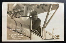 1929 Cristobal Canal Zone Panama RPPC Postcard cover To Usa Lindbergh Signed