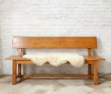 Large Rustic Oak Bench / Hallway Seat