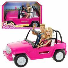 Beach Cruiser | Convertible with Barbie & Ken Doll | Mattel | pink Jeep Car