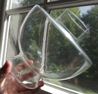 """rare OIL LAMP CHIMNEY hurricane glass oil ANTIQUE 3"""" FITTER large and wide clear"""