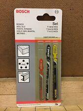 Bosch Jigsaw Blades Cutting Saw Elu Makita Aeg Hitachi Wood Metal 2607010062 SET