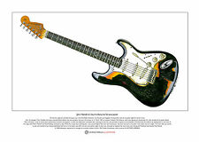 Jimi Hendrix's Burnt Astoria Stratocaster Limited Edition Fine Art Print A3 size