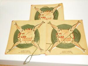 Vintage>B.F. Gladding & Co. Inc.3 rolls>Cane Pole Fishing Line-With Dealer Cards
