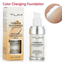 New TLM Color Changing Foundation Cover Concealer Base Makeup Anti-Allergic 30ml