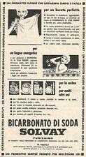 W8737 Bicarbonato di soda SOLVAY - Pubblicità del 1958 - Vintage advertising