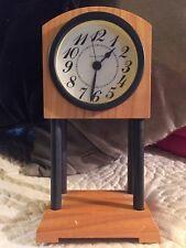 """Vintage Baskerville England Wood Clock/7.5""""/Second Hand/Office/Bedroom/Nice!"""