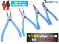 "Circlip Plier Set 7"" 4pc snap ring Circlip Pliers internal external 175MM 29-12i"