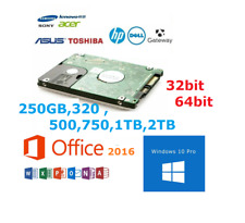"Laptop Hard Drive Disk 2.5"" SATA Internal HDD with Windows 10 Pre Installed"