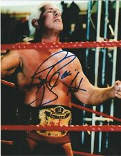Ric Flair Authentic Autographed Wrestling 8x10 Photo WWE NXT AEW