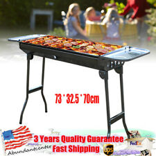 Stainless Steel Barbecue Oven Portable Folding Charcoal Grill BBQ Cooking Grid