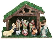 32cm 9 Piece Light Up LED Christmas Nativity Stable Scene Traditional Figures