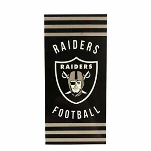 "The Northwest Company NFL Team Logo, Las Vegas Raiders Beach Towel, 30"" x 60"""