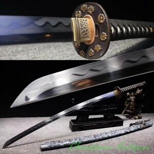 Japanese Samurai Sword Steel Blade Hand Double-deck Polishing Sharp Katana #2528