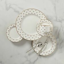 Kate Spade - Larabee Road Gold 5-Piece Dinnerware Place Settings (Set of 8)