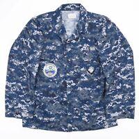 Vintage US NAVY Blue Digital Camo KOMAN PROPPER Shirt Size Men's Medium
