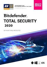 Bitdefender TOTAL SECURITY 2020, 5 Multi-Devices 1 Year LATEST DOWNLOAD VERSION