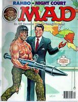 1985 (Dec.) Mad Magazine, #259 Rambo, Night Court, Ronald Reagan ~ Good